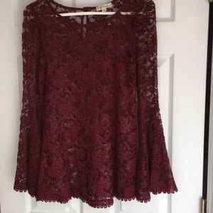 """""""Althea"""" lace top with bell sleeves"""